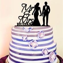 Bride and Groom Wedding Cake Topper Personalized Mr and Mrs Wedding Cake Topper Love Anniversary Cake