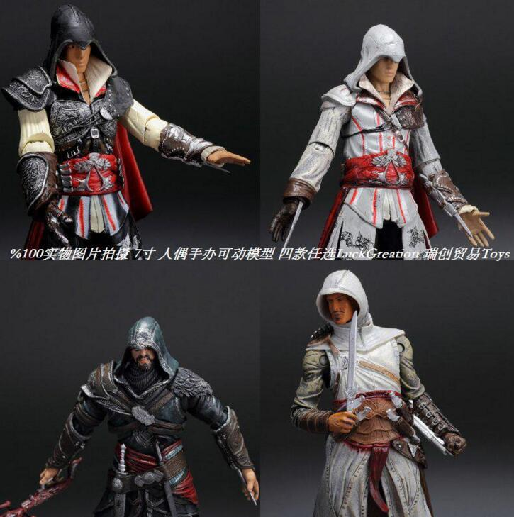 NECA Assassins Creed 4 Black Flag Hidden Blade Game Figurine PVC Action Figure Collectible Model Toys for Gift