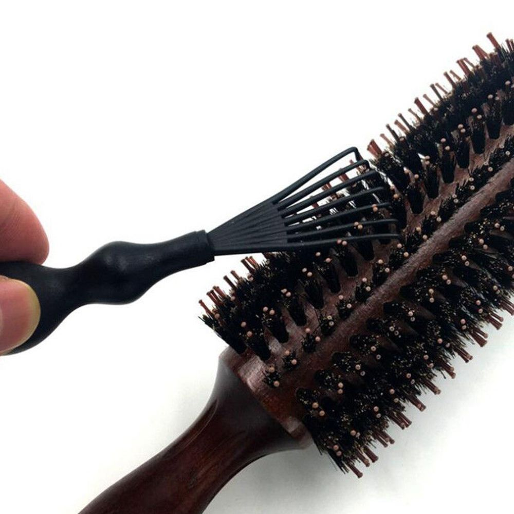 1 Pcs Black Durable Mini Comb Hair Brush Cleaner Embedded Tool Salon Home Essential Women Beauty Tools Practical