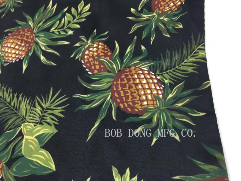 Image 5 - Bob Dong Mens Vintage Hawaiian Aloha Pineapple Floral Print 