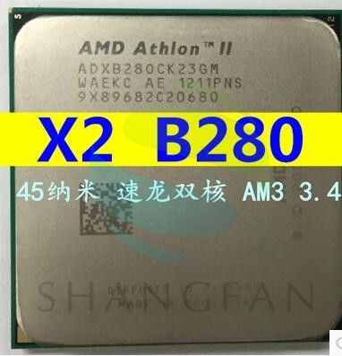 AMD Athlon X2 B280 X2 B28 3.4 GHz Dual-Core CPU Processeur ADX28OCK23GM Socket AM3 938pin