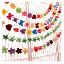 150mm 3D Paper Circle Garlands Home Decoration Paper Banner Decor Wedding Birthday Party Kid Room Child Room DIY Hanging