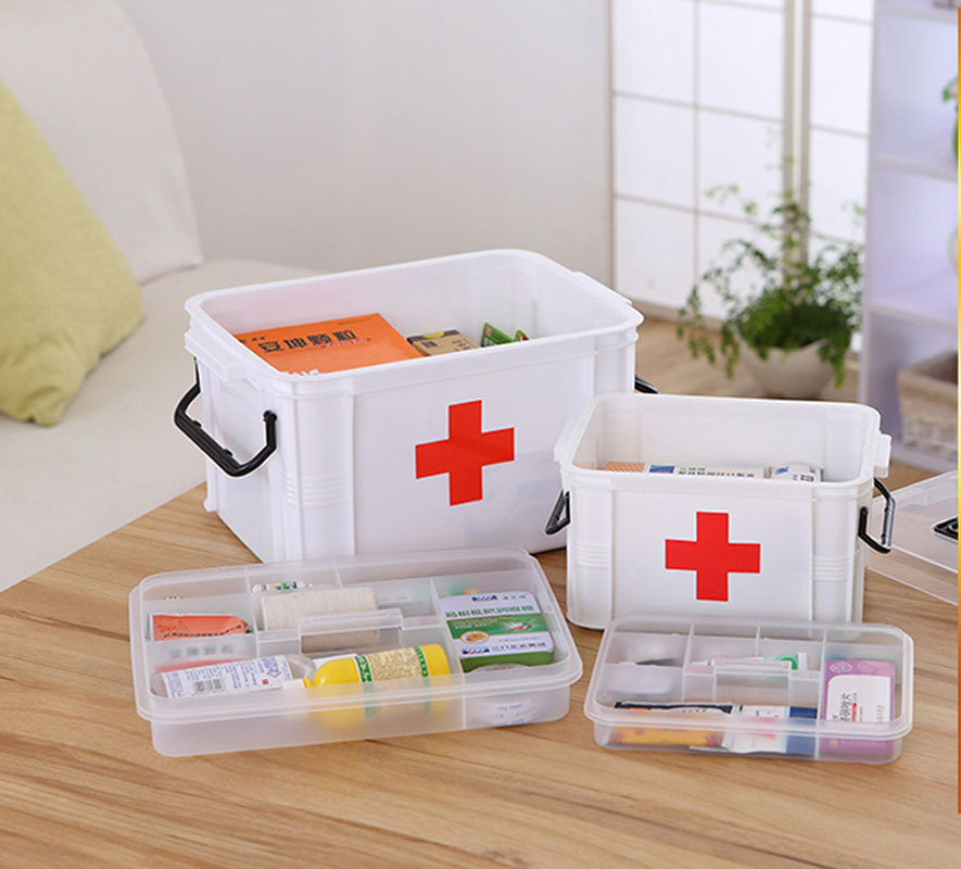 New Organizer Organizador First Aid Kit Box Large Home Medicine Chest Cabinet  Plastic Storage Household Eco