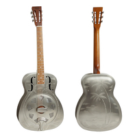 Aiersi Brand O style Satin Finish Brass Resonator Guitar Model A38 BMH