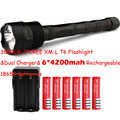 Big Discount! 3 * CREE XM-L T6 3T6 Flashlight 5 Mode 3800 Lumen XML T6 LED Flashlight + 6*18650 battery + Charger Free Shipping