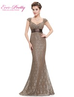 Women S Elegant Peach Collar Long Evening Party Dresses Ever Pretty HE08798 Empire Mermaid Lace V