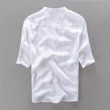 2016 brand clothing 100% Linen Men shirt Slim fit Casual Dress shirts men summer shirt short sleeve mens camisa masculina camisa