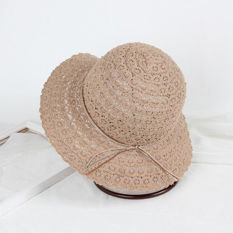 acf44aa1 Summer Sun Hats For Women Lace Cotton Soft Fashion Design Women Travel  Beach Sun Hats Floppy Foldable Wide Brimmed Straw Hat -in Women's Sun Hats  from ...
