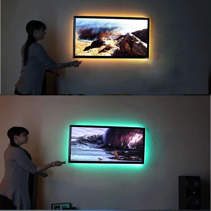 RGB Led Strip Lights DC 5V TV Backlight USB Led Flexible Strip 50CM 1M 2M 3M 4M 5M SMD3528 Tira Tape Bande Lighting for Home P25