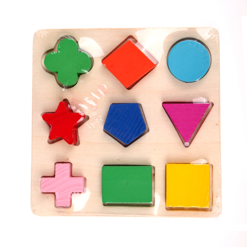 Kids Baby Wooden Learning Montessori Early Educational Toy Geometry Puzzle Toys Early Educational Learning Toys for Children