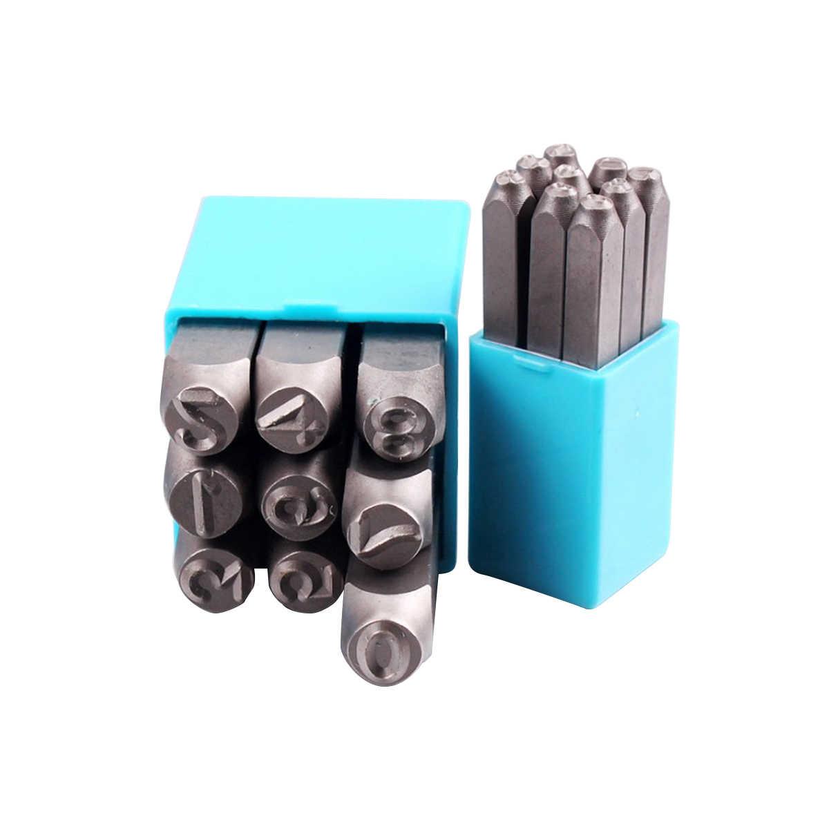 เหล็กความแข็งสูงจำนวน Ball Pein Hammer Hand Punch ชุดแสตมป์โลหะสำหรับแม่พิมพ์อัญมณีทำ Die Stamp