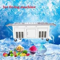 Commercial Gelato Rouleau de laminage rouleau plat frit machine pour double crème 2pan rouleau bac à peinture gelato machine à crème glacée
