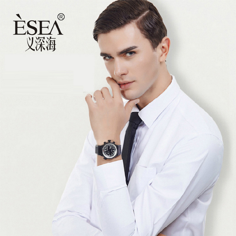 2017 New Design Twill Cotton Pure Color White Business Formal Dress Shirts Men Fashion Long Sleeve