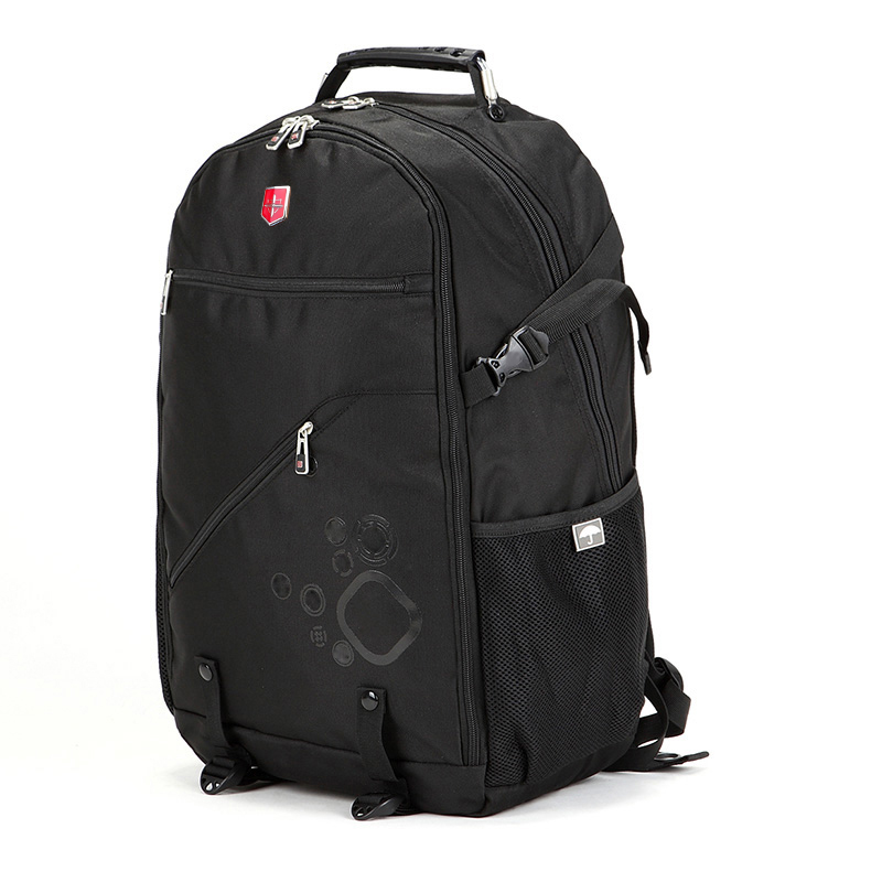 Swiss Waterproof Oxford Black Men s Backpack 18 inch laptop bags Large capacity multi use Travel