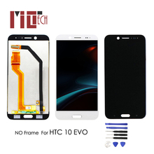 LCD Display For HTC 10 EVO Bolt M10H Touch Screen Glass Digitizer No Frame Assembly Replacement Parts 5.5'' White Black new original black frame full lcd display touch screen digitizer frame for htc evo 3d x515m free shipping