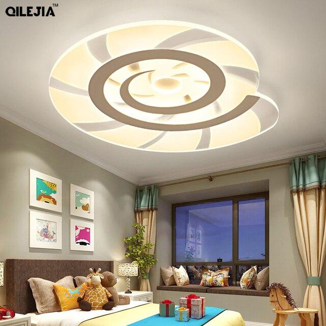 White Finished Chandeliers Living Room Bedroom Baby Led Modern Chandelier Flush Mounting Lights Fixtures