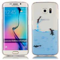 Für Samsung S6 Rand G9250 G925f Fall Tier Anime Weiche Silikon TPU Haut Zurück Hülle für Samsung Galaxy S6 Rand G925 G925h