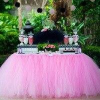 1 יחידות 15 צבעים טול חצאיות טוטו חצאית DIY כלי שולחן שולחן מקלחת טובה תינוק קישוט בית מסיבת יום הולדת לחתונה טקסטיל