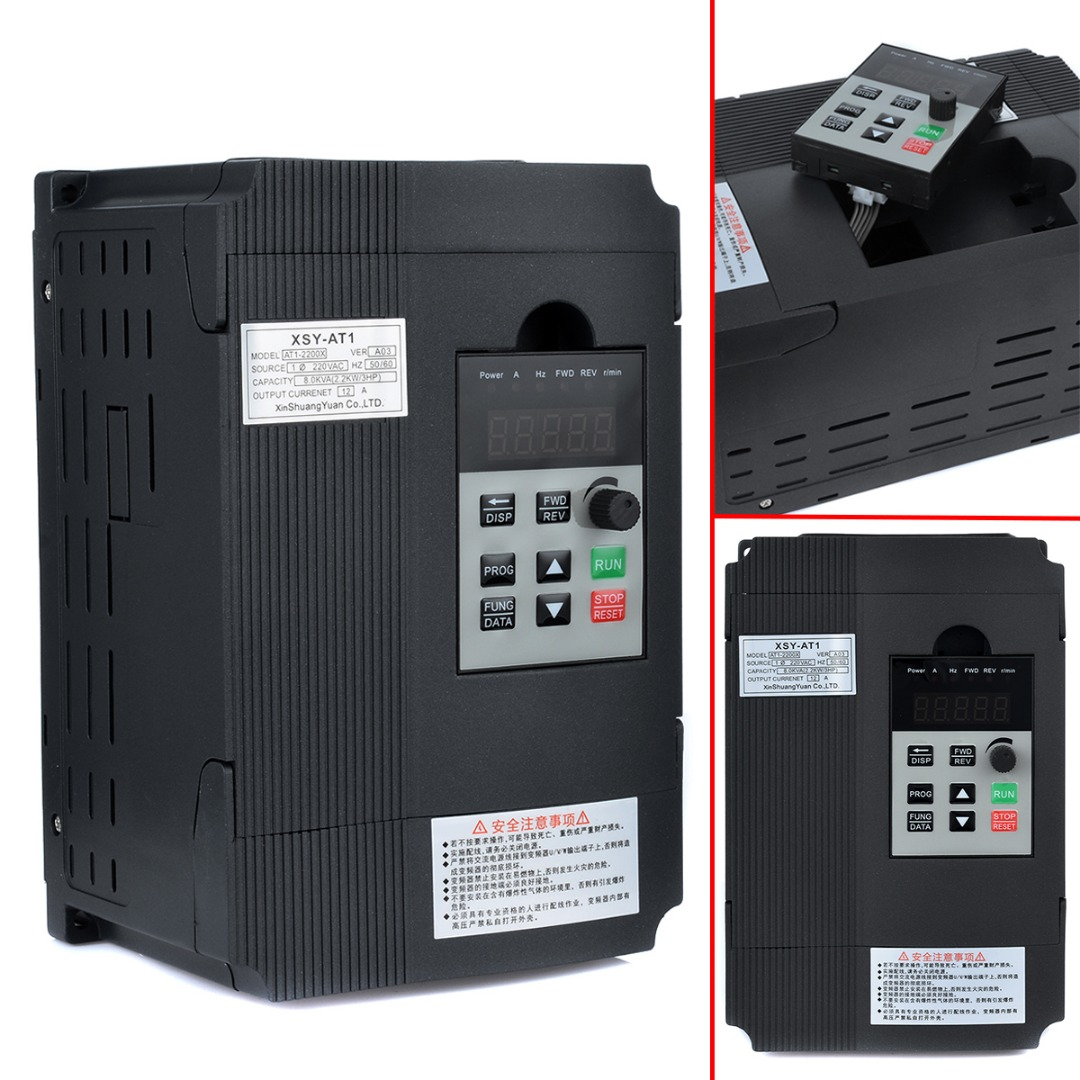цена на Professional AC 220V Variable Inverter 2.2KW 3HP Single Phase Variable Frequency Inverter Drive Inverter VSD VFD PWM Control