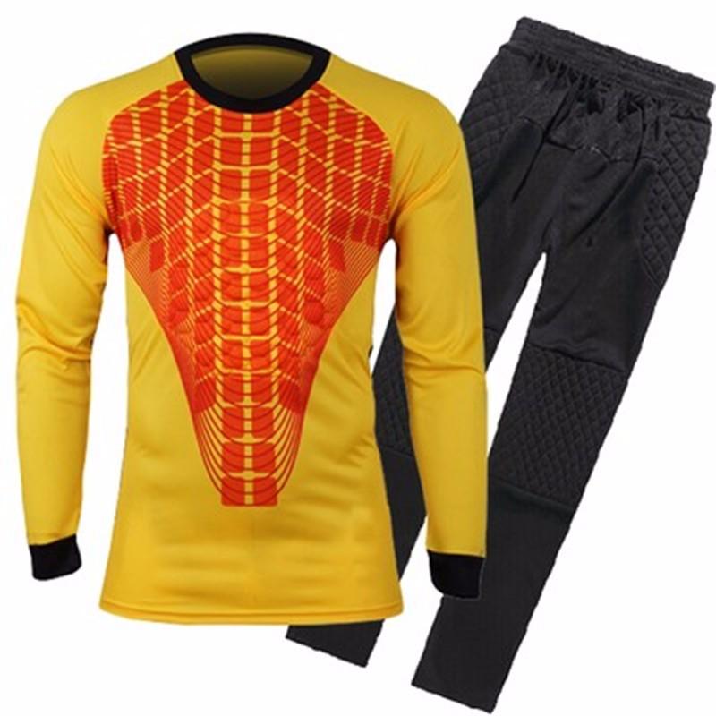 Mens Football Goalkeeper Jersey maillot de foot 2016 2017 Goalie Sponge Protector Suit Camisetas De Futbol Goal Keeper Uniforms 3