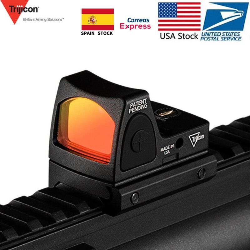 EUA Estoque Glock Rifle Trijicon Mini RMR Red Dot Visão laser Colimador Mira Reflex Scope Voor Caça Airsoft Arma