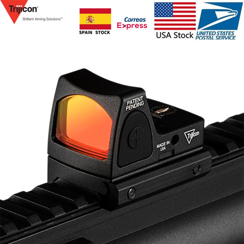 US Stock Trijicon Mini RMR Red Dot Sight Collimator Glock Rifle Reflex Sight Scope Voor Airsoft Hunting Handgun