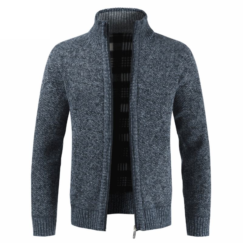Mens Male Stand Collar Cardigan Jacket Coat Outwear Clothes Clothing Autumn Winter M-3xl Plus Size Zipper Knitwear Sweaters High Standard In Quality And Hygiene Sweaters Men's Clothing