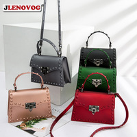 2019 Women's PVC Jelly Handbag Metal Lock Silicone Crossbody Bags for Women Solid Candy Color Flap Fashion Messenger Purse Tote