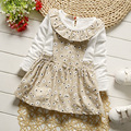 Children's Home Dress 2017 Spring New Long-sleeved Girls Princess Newborn Baby Dress Infant Dresses for Girls Vestido Infantil