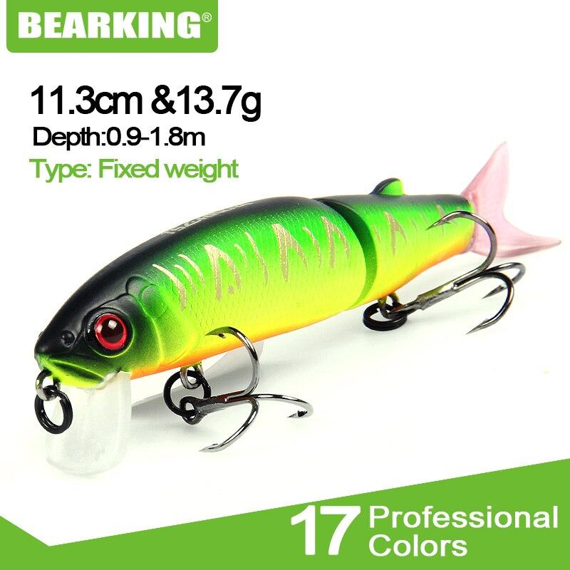 BEARKING brand artificial 11.3cm 13.7g Fishing Wobblers Fishing Lure Bait Swimbait Crankbait minnow
