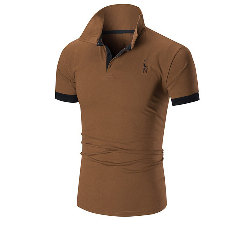 New 2018 Fashion Summer Polo  Male Short Sleeved Male Frontal Fawn Light Printed Casual Tees Tops Brand polo  Men Clothing