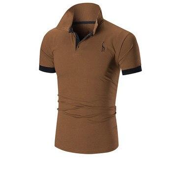 b4e76ac4 2019 nueva moda marcas camisa de Polo de los hombres de manga corta Slim  Fit verano camisa de cuello Polos niños Casual para Hombre Ropa