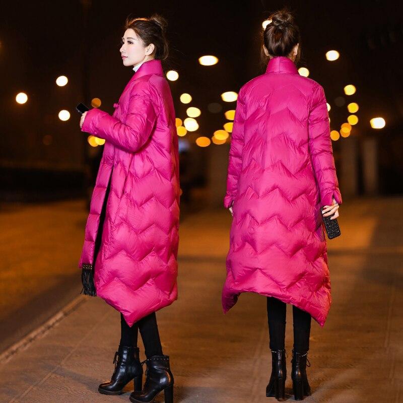 ligne Longue Extérieur Solide Manteau Vêtements D'hiver Vintage green Chaud Lâche Doudoune Nouvelles Cacaso Ac254 De Style A Noir Femmes 2019 black Chinois Rose Couleur 7pwI0qZ