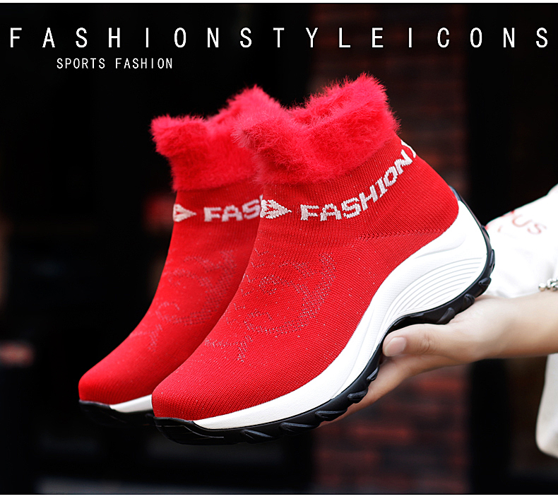 STS BRAND 2019 New Winter Ankle Boots Women Snow Boots Warm Plush Platform Sneakers Breathable Mesh Sneakers Travel Casual Shoes (3)