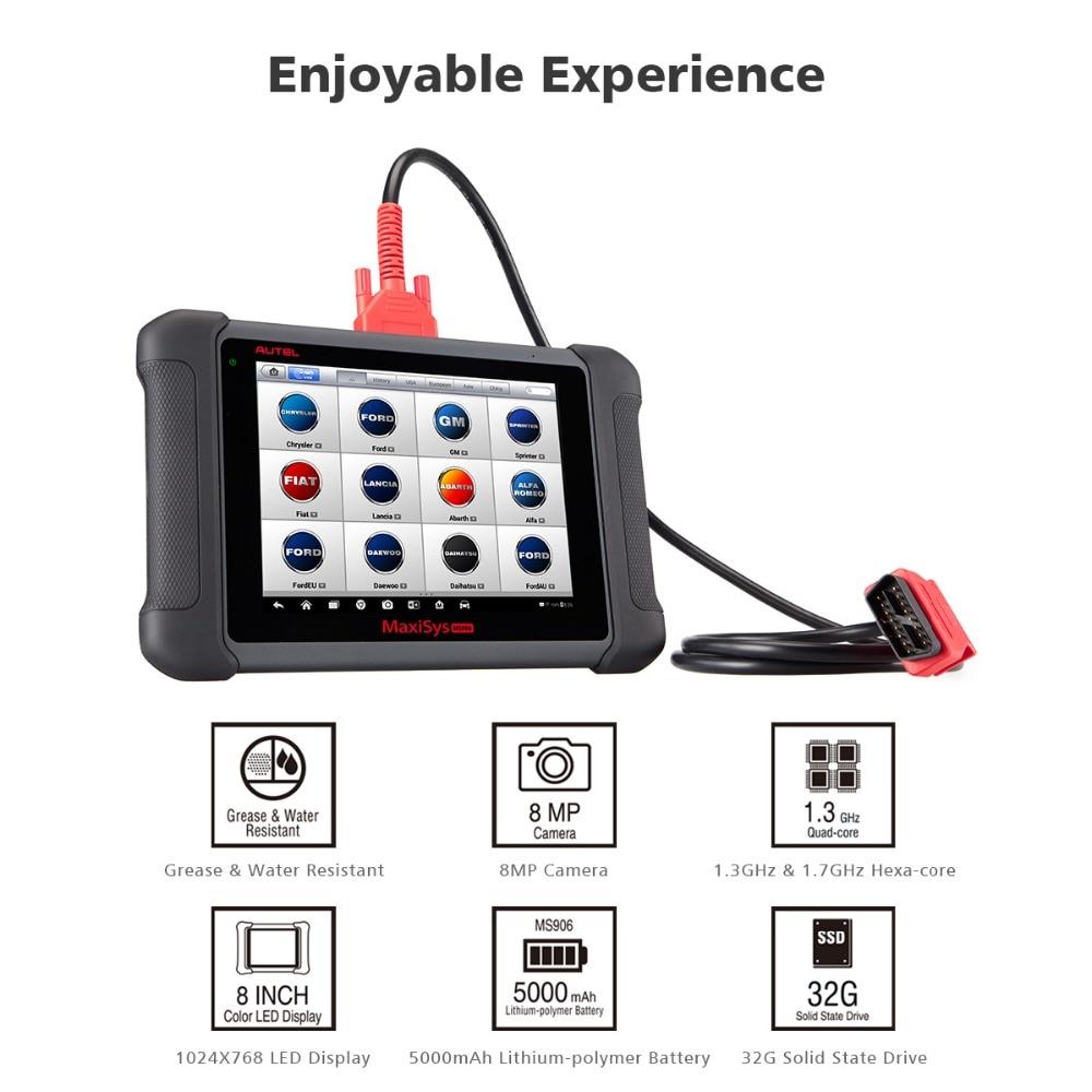 Image 2 - Autel MaxiSys MS906 OBD2 сканер автомобильный диагностический инструмент MS 906 ключ Программирование считыватель кодов OEM инструменты кодирование ключей