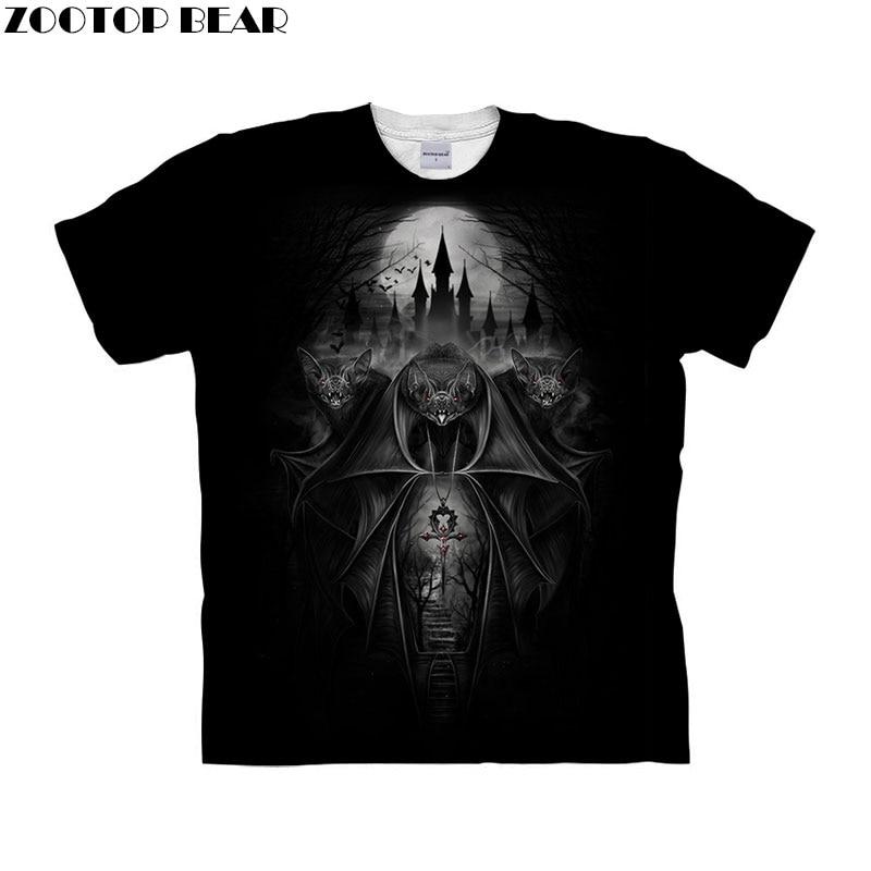 Skull tshirt 3d t shirt Men t-shirt Funny Tops Tee Short Sleeve Camiseta Streetwear Clothing Animal Prints Drop Ship ZOOTOP BEAR