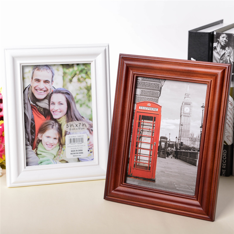 solid wood stand table photo frame hanging wall business license 6 inch 7 inch 10 inch