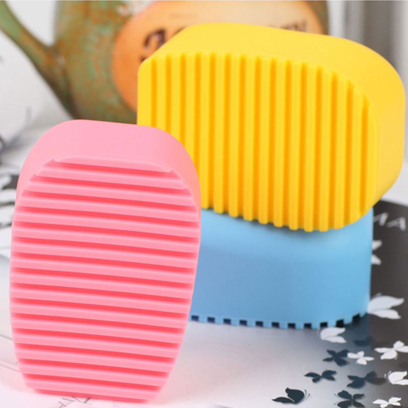 Candy Color Mini Handheld Washboard Silicone Shirts Cleaning Laundry Brush Washing Board For Kid Clothes @LS