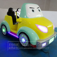 2 Kids Play Amusement Ride Children Game Machine Fiberglass Electric Kids Car