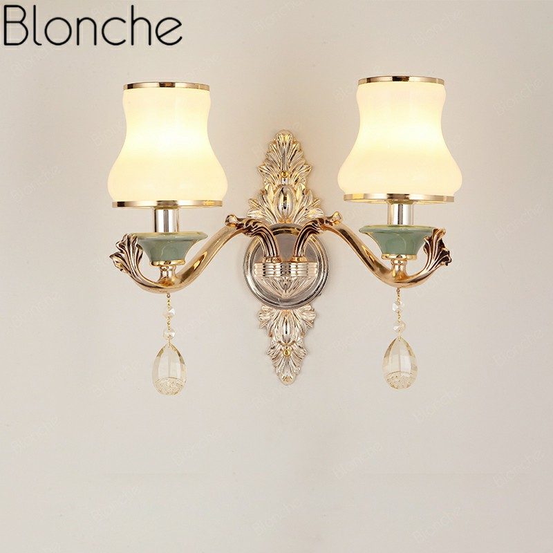 Modern Gold Wall Lamp Led Glass Wall Sconces Luxury for Living Room Bedroom Corridor Bedside Home Decor Lighting Loft FixtureModern Gold Wall Lamp Led Glass Wall Sconces Luxury for Living Room Bedroom Corridor Bedside Home Decor Lighting Loft Fixture
