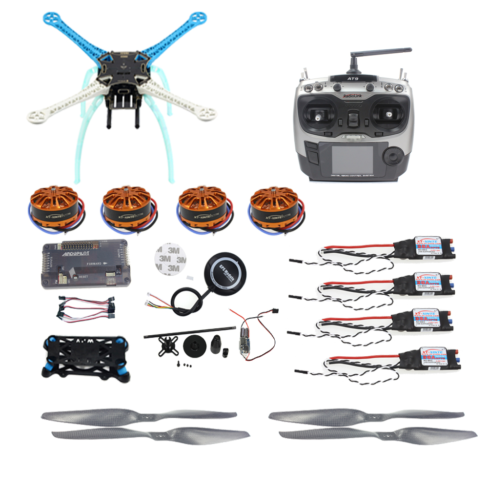 JMT APM2.8 DIY GPS Drone 500mm Multi-Rotor with 700KV Motor 30A ESC 9CH Transmitter NO Battery Charger