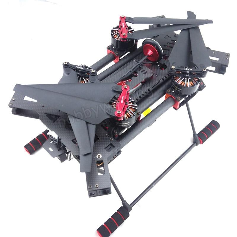 H680 Carbon Fiber Folding Alien Quadcopter power suit frame with Motor ESC Propeller Flight Control GPS remote control receiver