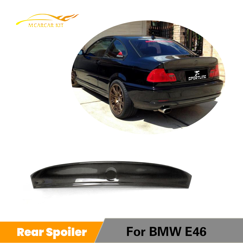 Rear Trunk Spoiler For BMW E46 Coupe Sedan M3 2Door 4 Door 1998 - 2006 Boot Lip Wing Spoiler Carbon Fiber / FRP / PU