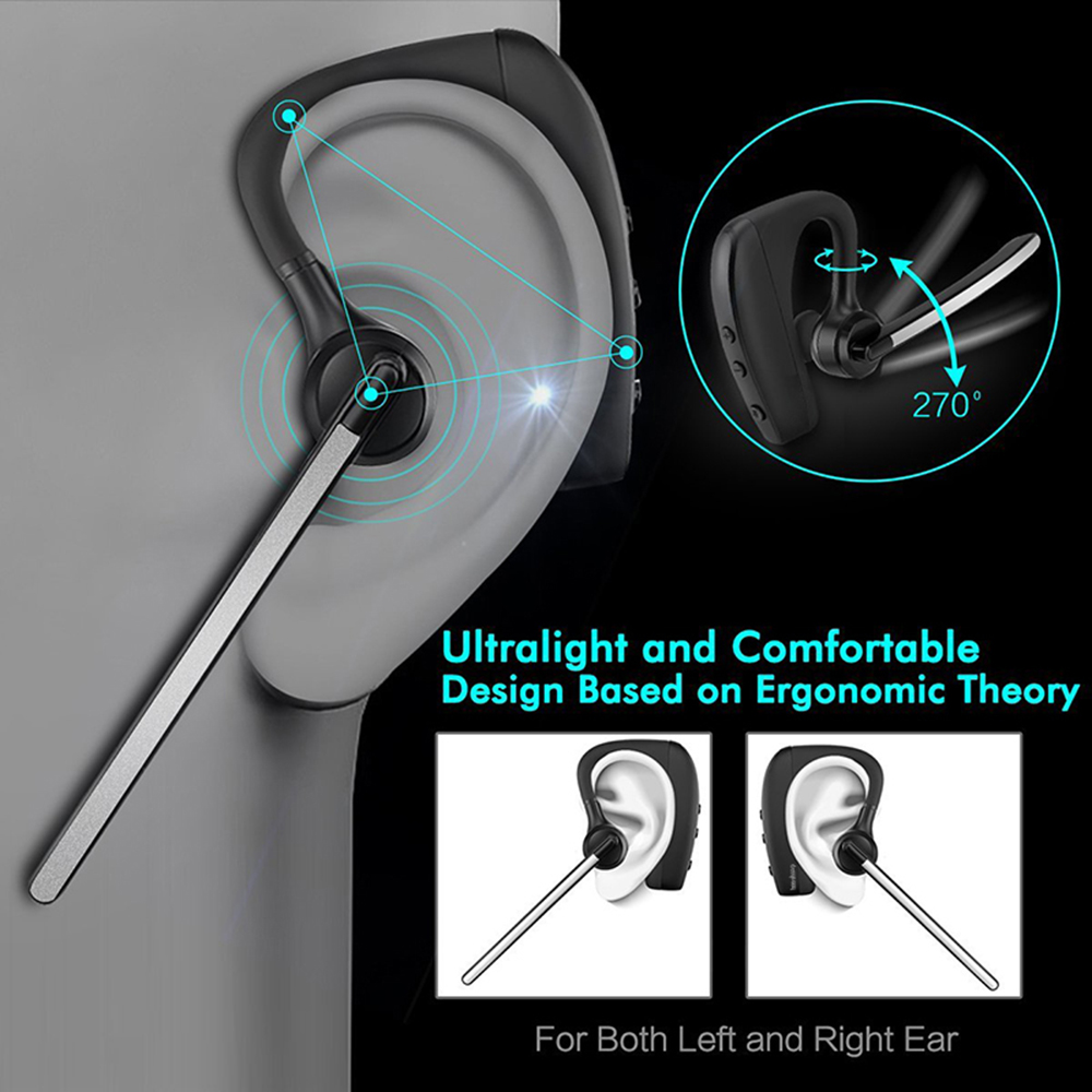 Uusim äri Traadita Bluetooth-peakomplekti stereo Handsfree Müra - Kaasaskantav audio ja video - Foto 4