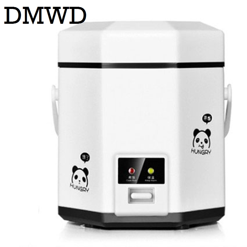 DMWD 1.2L mini rice cooker small 2 layers Steamer Multifunction cooking Pot Electric insulation heating cooker 1-2 people EU US mini electric pressure cooker intelligent timing pressure cooker reservation rice cooker travel stew pot 2l 110v 220v eu us plug