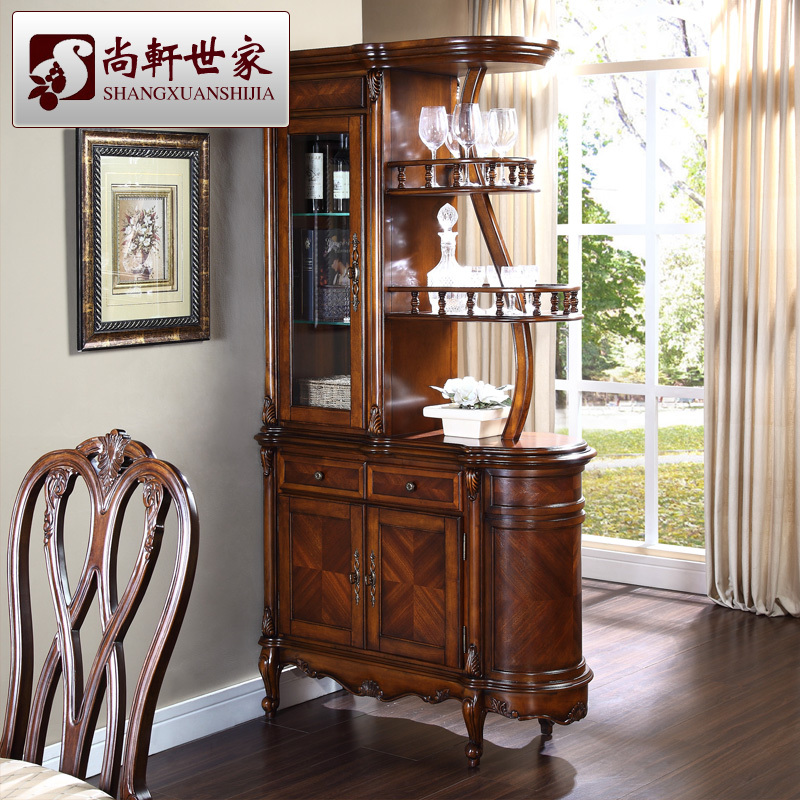 American Style Solid Wood Wine Cabinet Fashion Corner Parion Gl Bar Counter Console Storage J901 5 In Sideboards From