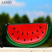 Süße Mädchen Neuen Look Wassermelone Täglich Kupplung Lustige Nette Fruit Party Umhängetasche Straße Stil Cartoon Berühmte Marke Designer Handtasche