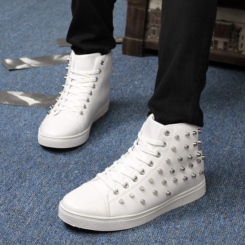 New fall fashion men's casual shoes, very cool rivets ...