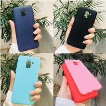 Candy Case For Smartphone Samsung Galaxy A8 SM-A530 A8+ Plus A730F-DS mobile phone 2018 Silicone color Matte shell Cover цены