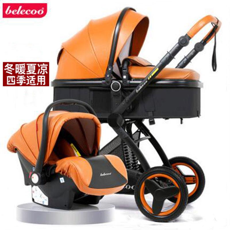 Babyfond ребенка тележка, высокая пейзаж может сидеть, лежать, складной, двусторонняя амортизаторы, тележка.